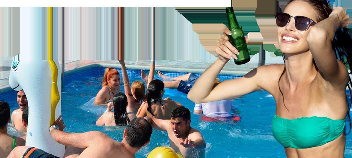 Fiestas de piscina para despedidas de