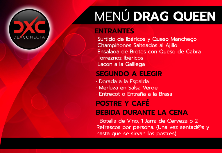 Menú Drag Queen