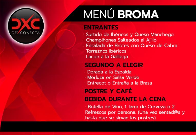 Menú Cena con Broma