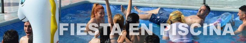 Banner fiesta en la piscina despedidas de soltero