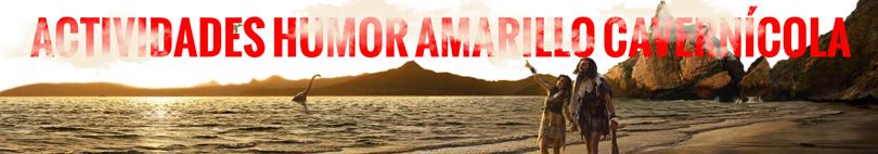 Banner Humor Amarillo cavernícola