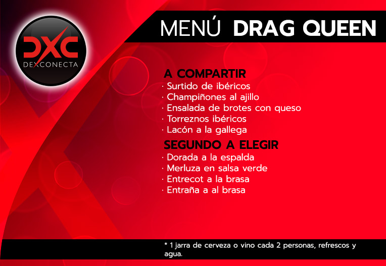 menu drag queen despedidas de soltero madrid