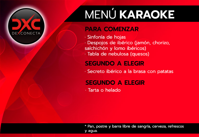 menu karaoke despedidas soltera madrid
